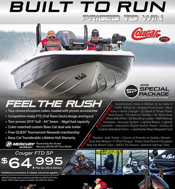 Bass Cat Cougar FTD Promotion