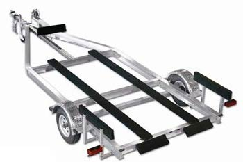 Airboat Series Aluminum Magic Tilt Boat Trailer