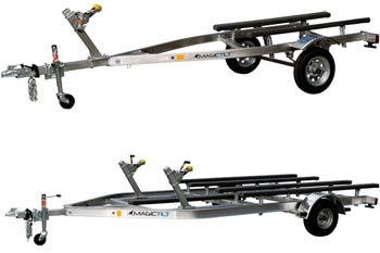 PWC Series Aluminum Magic Tilt Boat Trailer